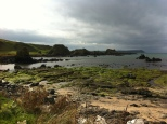Ballintoy was the site of the recent Annie Leibovitz photo shoot. The day we arrived, a film crew was setting up to shoot scenes from season 4.