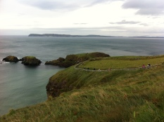 Larrybane Head is home to Storm's End and the Carrick-a-Rede bridge.